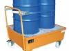 Mobile Auffangwanne mit Rollen für Fässer & Kleingebinde