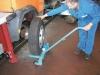Radmontierer für den Reifenwechsel bei Staplern