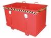 Stapler-Klappbodenbehälter - 2-Kammern zur Wertstofftrennung