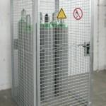 Gasflaschen-Container GFC-M-0-D mit Dach für die Lagerung nach den TRGS 510
