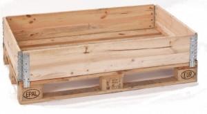 Holzaufsatzrahmen für Euro-Paletten