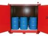 Brandschutz-Container für 200 Liter-Standardfässer
