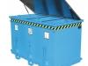 Stapler-Klappbodenbehälter - 3-Kammern zur Wertstofftrennung