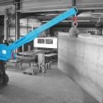 Kranausleger für Stapler mit flexibler Reichweite