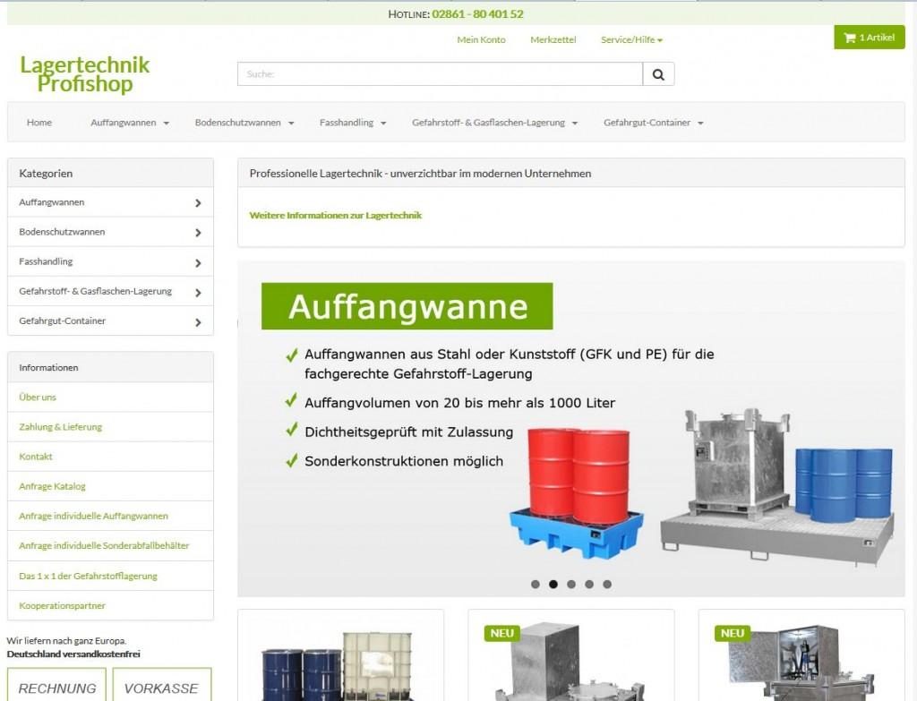 Lagertechnik-Profishop - Jetzt auch für mobile Endgeräte optimiert