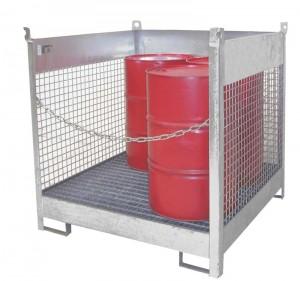 Fass-Stapelplatten ermöglichen eine extrem platzsparende Lagerung von Fässern