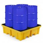 Kunststoff-Auffangwanne mit einem Auffangvolumen von 250 Litern - ideal für die Lagerung von Fässern